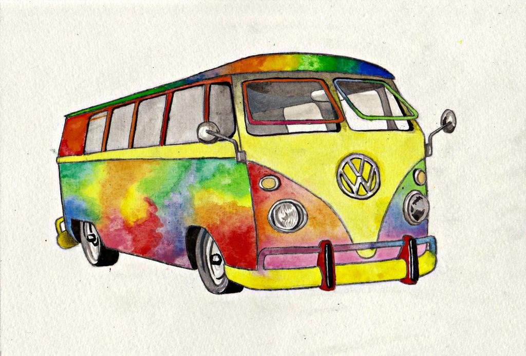 hippie van by laceyandthelevee on deviantart. Black Bedroom Furniture Sets. Home Design Ideas