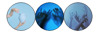 Blue Hands Aesthetic Divider by DranoCocktail
