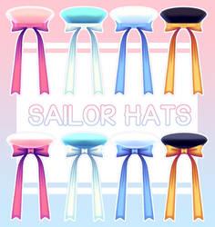 [MMD] Sailor Hats + Download