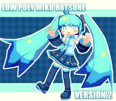 [MMD] Low Poly Miku Hatsune V2 + Download
