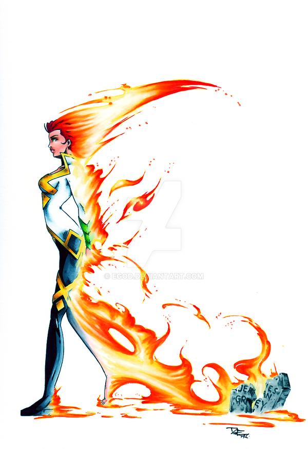 Jean Grey risen by EGoD