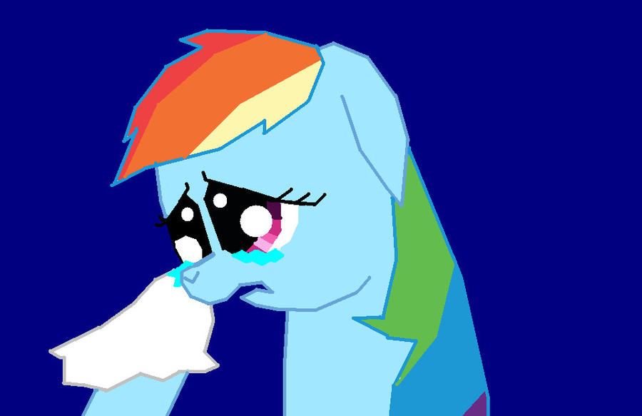 Rainbow Dash Crying by Rosevalestud on DeviantArt