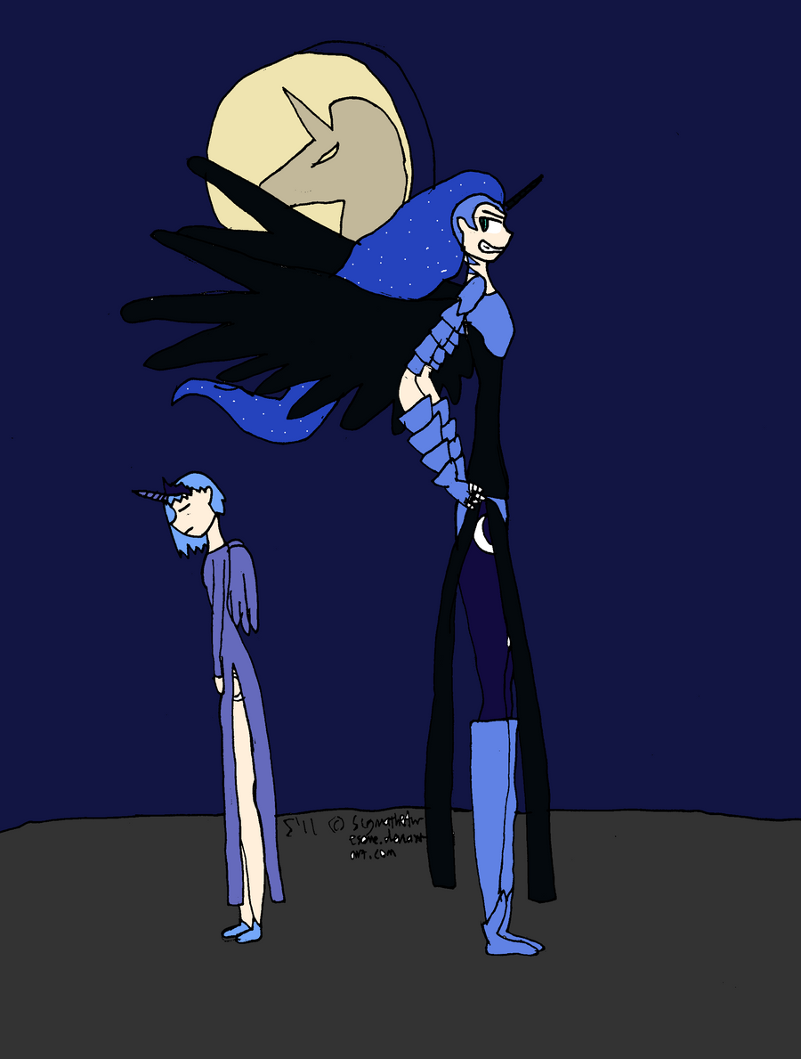 MLP:FiM - Human Luna by SigmatheArtist on DeviantArt