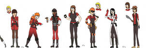 TF2 - Female Mercenaries RED version