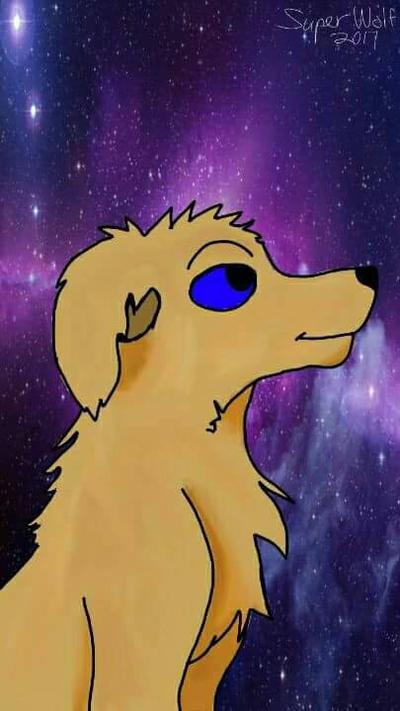 Space Dog by SUPERWOLF10