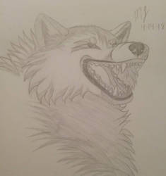 Mad Wolf (Vent Drawing) by SUPERWOLF10