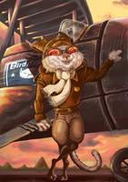 Aviator of Bird Hunter Team by Alopexyz