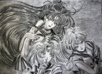 Outer Senshi (Updated) by AsiMakri