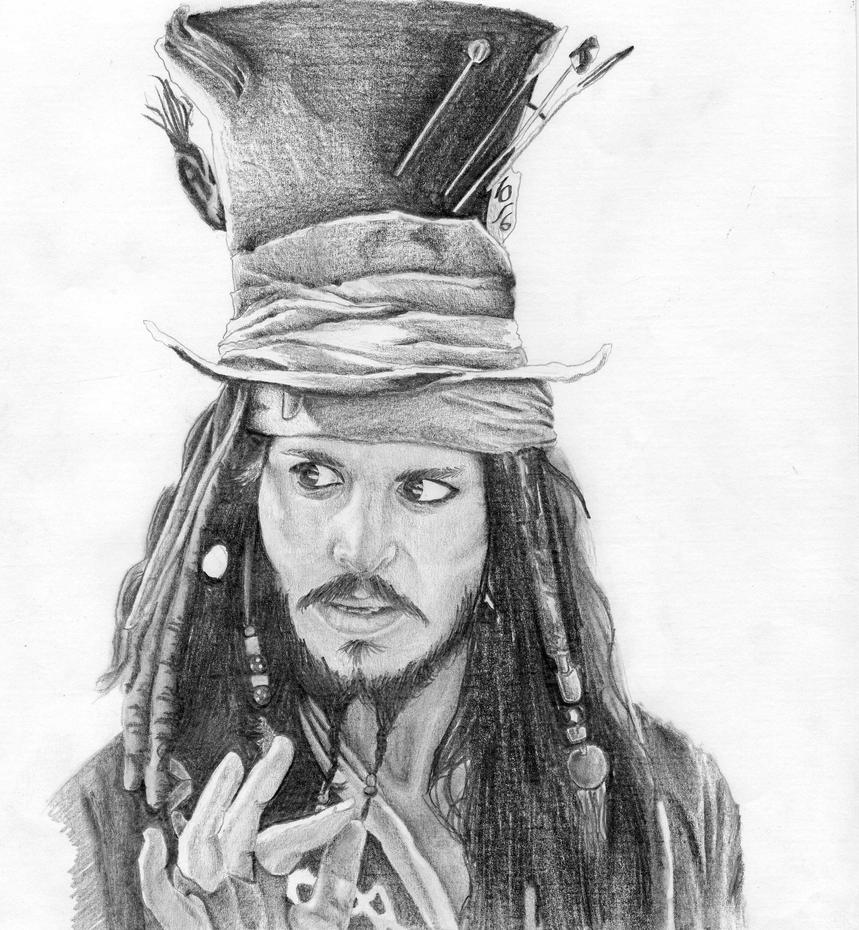 Jack Sparrow Mad as a Hatter by HappySuicideChannel