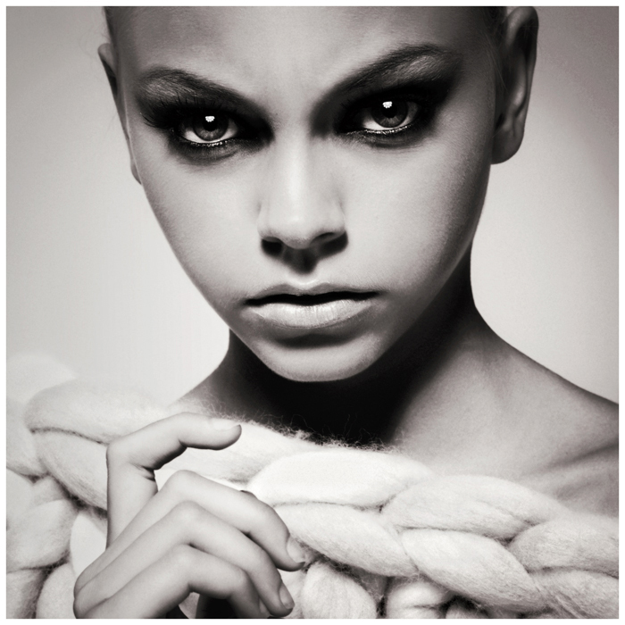 черно-белые фото моделей девушек