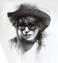 Charcoal sketch by alifann