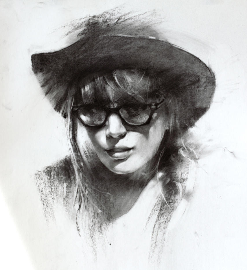 charcoal drawings: