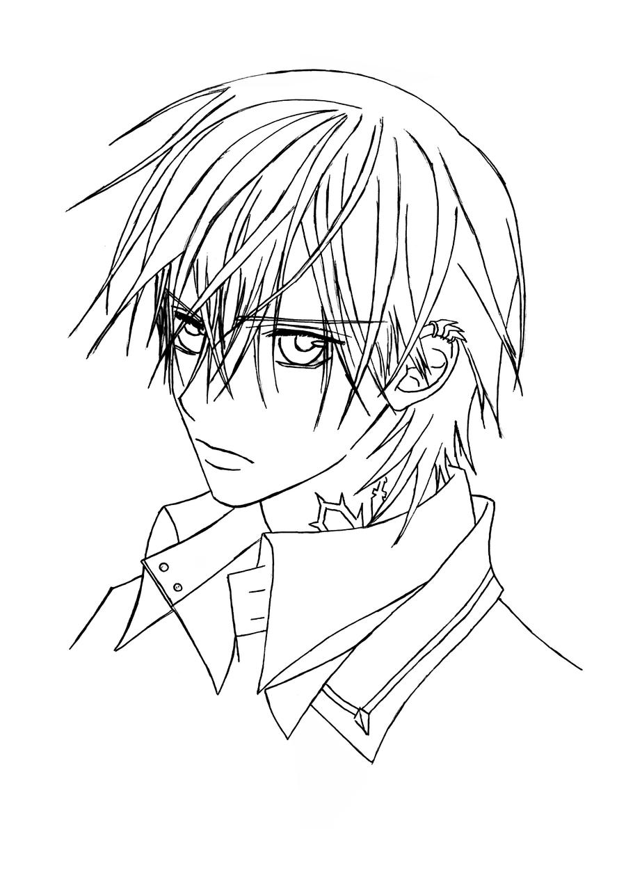 Zero vampire knight by menanie605 on deviantart for Vampire knight coloring pages