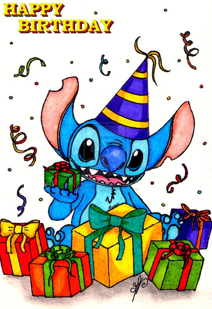 Pictures Of Stitch Happy Birthday Kidskunstinfo