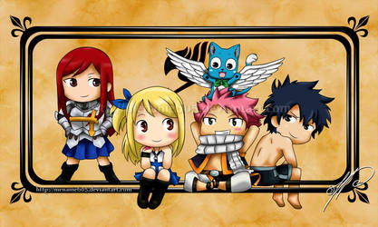Fairy Tail - Chibies by Menanie605