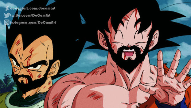 ReDraw - Goku and Vegeta (With Beard) 90's Style