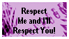 Giving Respect