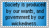 Society and the Government in a playpen by GoddessCureMystic