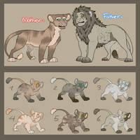 Lion family adoptable (OPEN) by FogFelidae