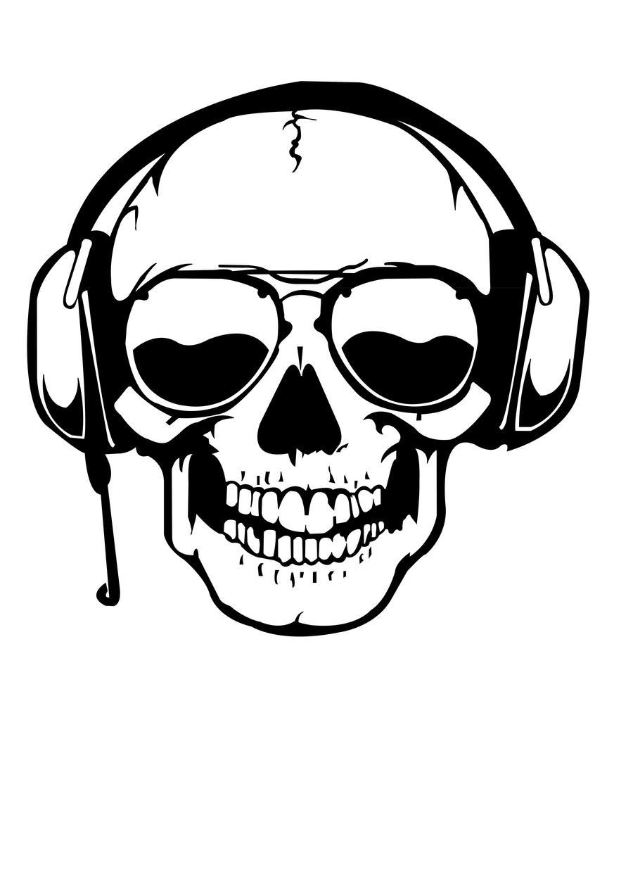 digitalized dj skull by jejejejeee on deviantart