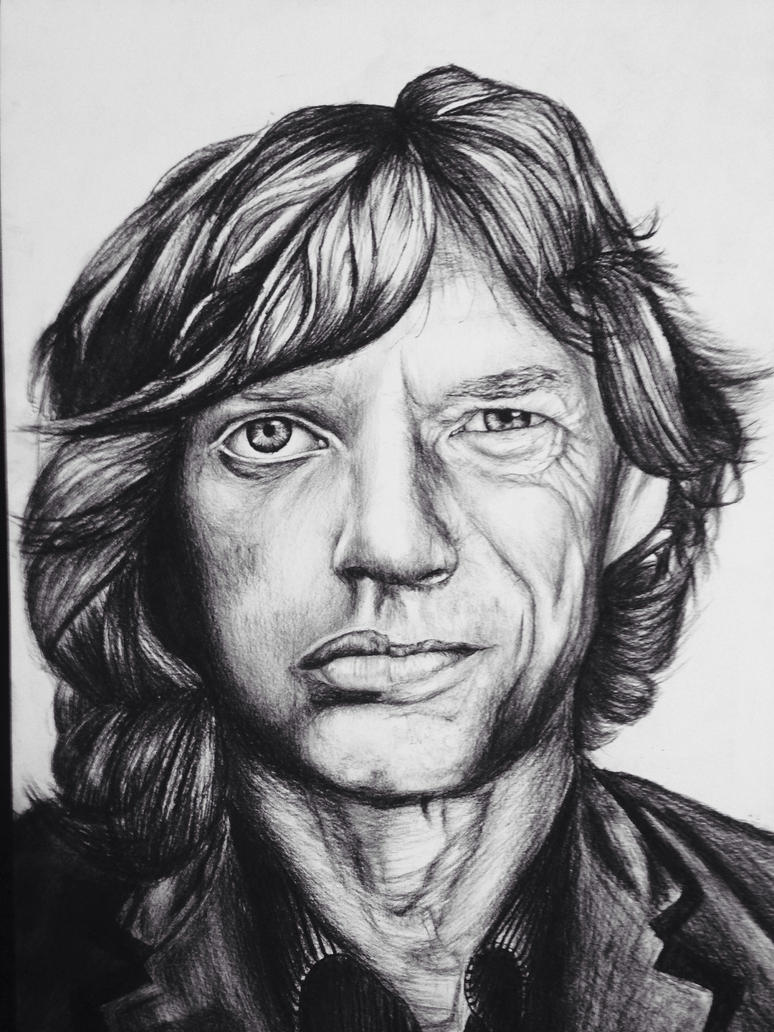 Mick Jagger then and now by MefjuDeKing