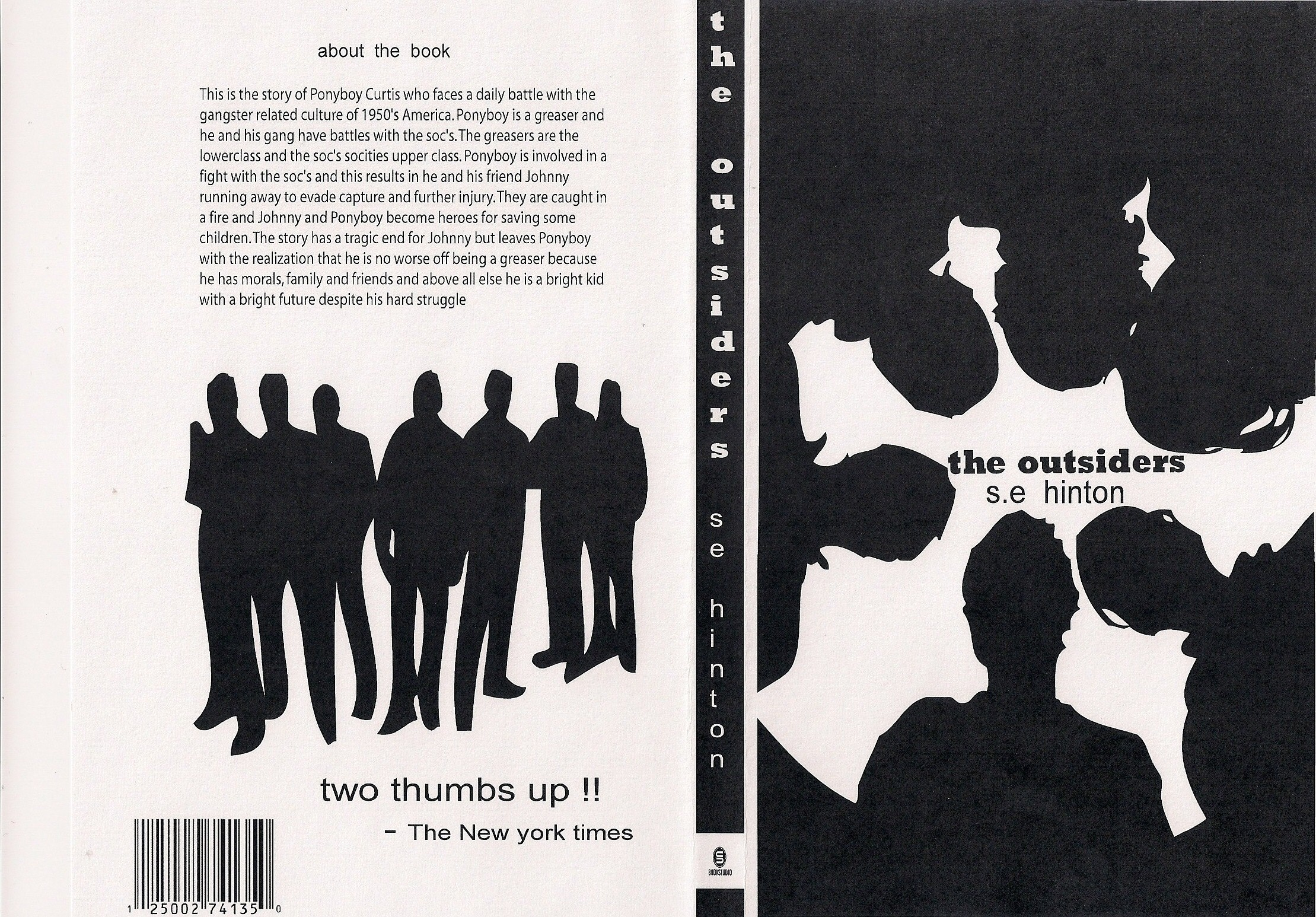 If I Stay Book Cover Ideas : Book cover for the outsiders by archer on deviantart