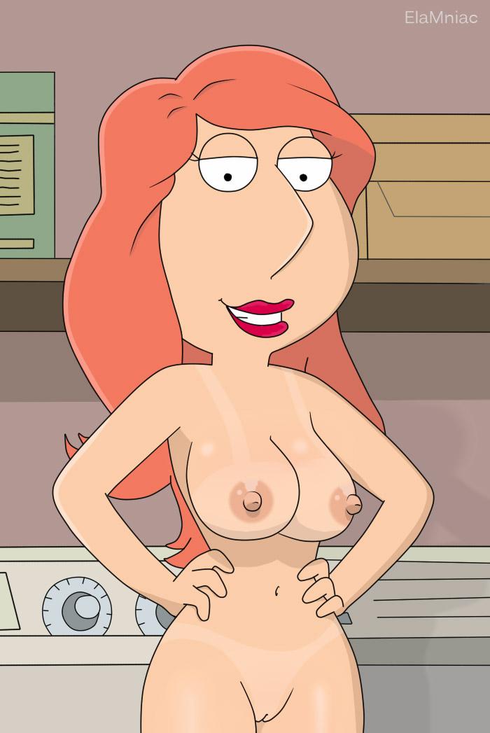 naked lois family guy