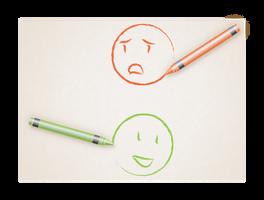 Crayon smileys by Chaos-Of-Fubuki