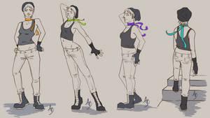 Little Punk Witch Dynamic turn around by Chaos-Of-Fubuki