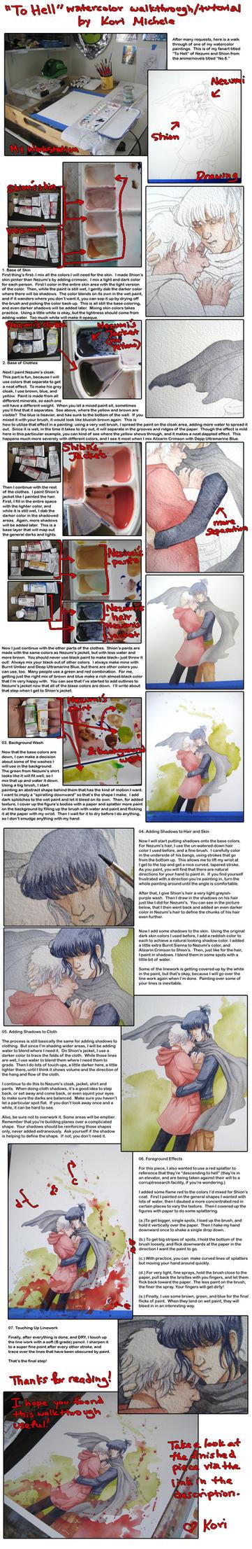 Watercolor Walkthru + Tutorial by KoriMichele