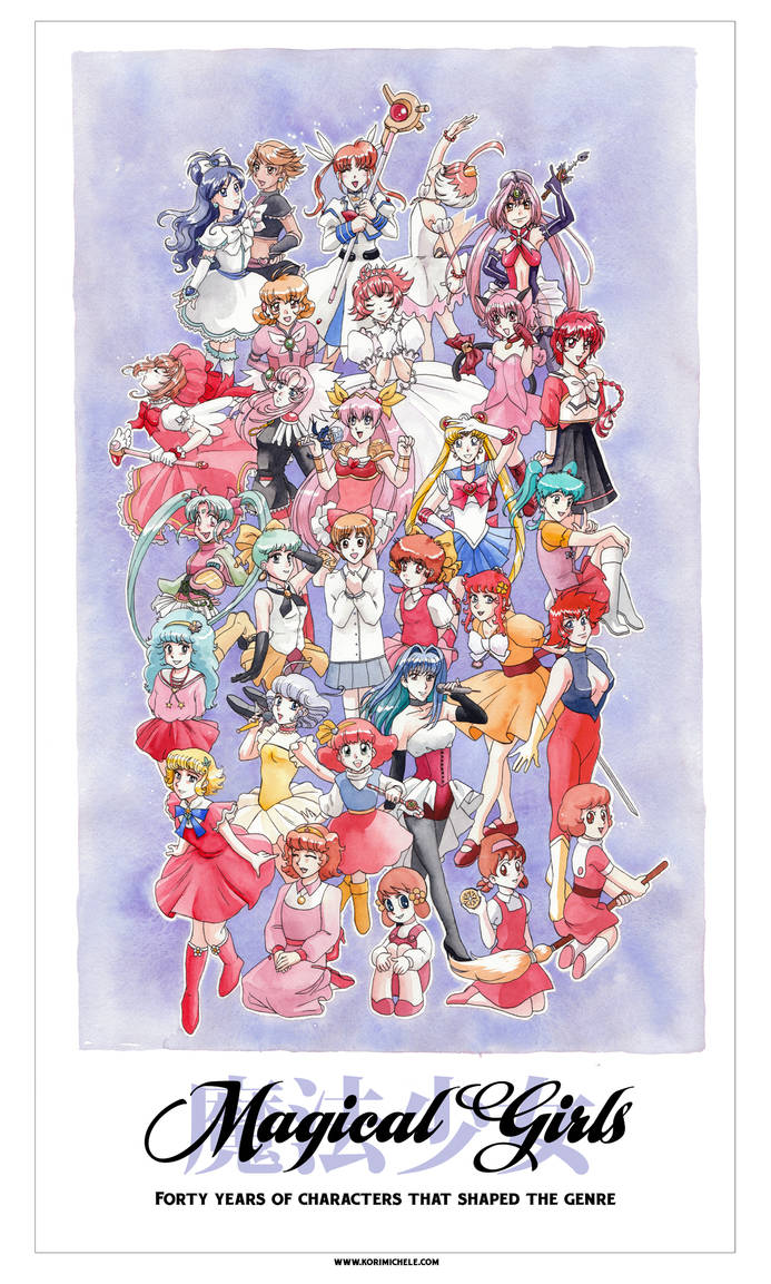 Forty Years of Magical Girls by KoriMichele
