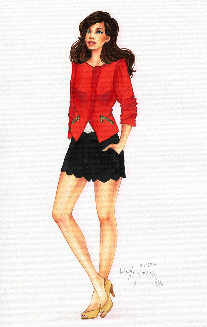 lady in red by Eyedraw