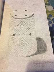 Wax Melting Candle Drawing by Azarius-Flashfang