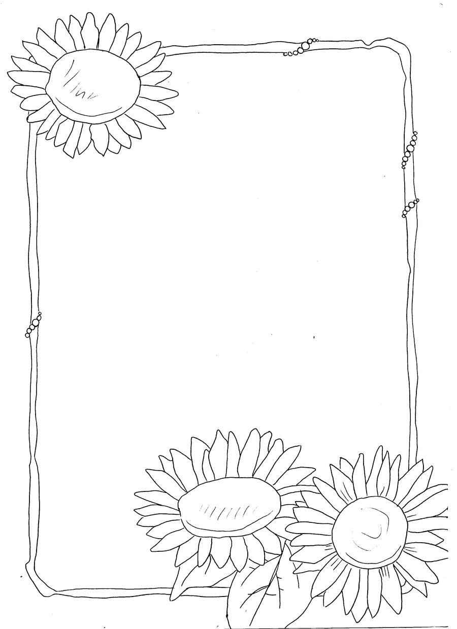 sunflower border by Horror-of-Pavlov on DeviantArt
