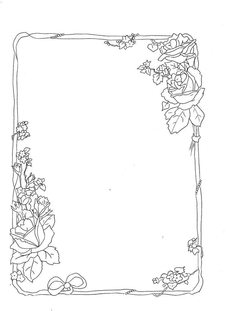 rose border 2 by Horror-of-Pavlov on DeviantArt