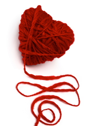 heart yarn by Almasa-stock