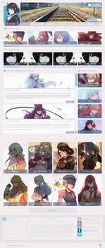 Anime Profile WebDesign by HDDRAW