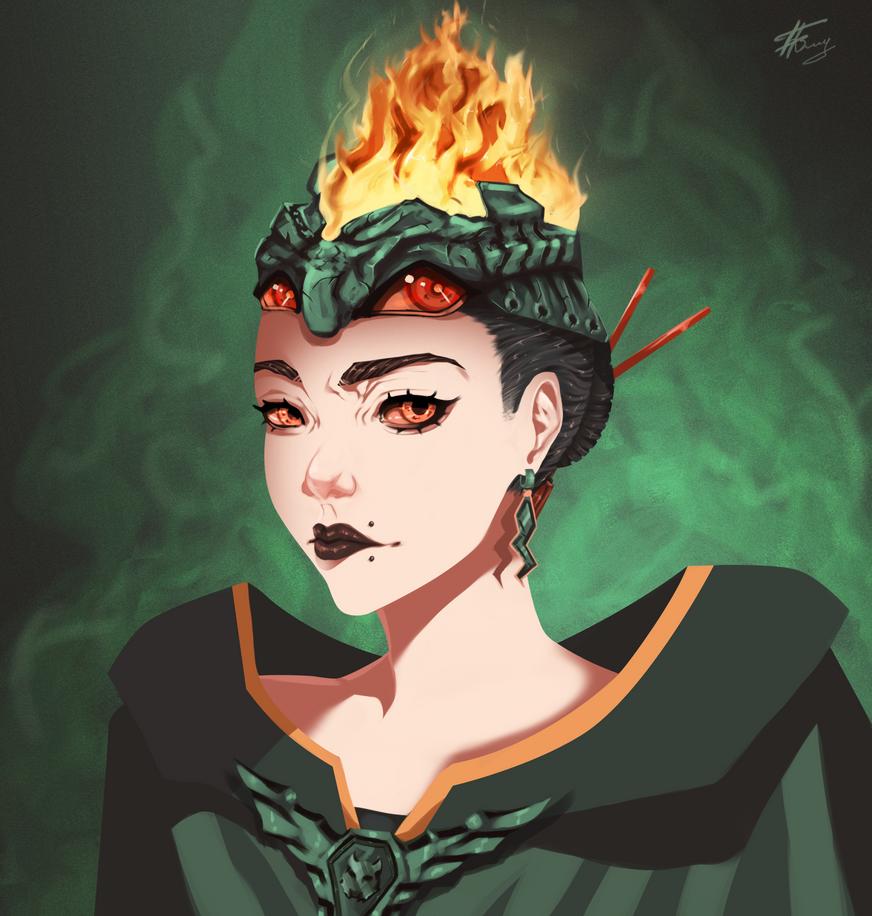 WARLOCK GIRL by HDDRAW