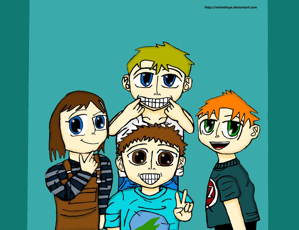 Four Best Friends by Animeboye