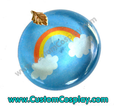 Rainbow and clouds pendant by The-Cute-Storm