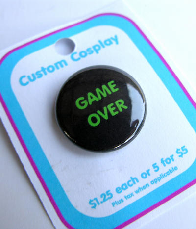 Game Over pin by The-Cute-Storm