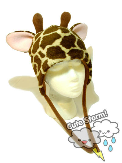 Giraffe hat with earflaps by The-Cute-Storm