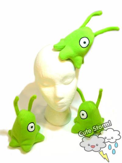 Plush brain slug by The-Cute-Storm