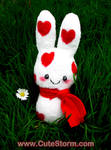 Plush love bunny by The-Cute-Storm