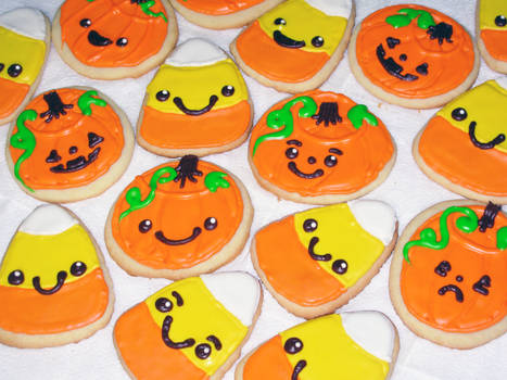 Halloween Iced Sugar Cookies