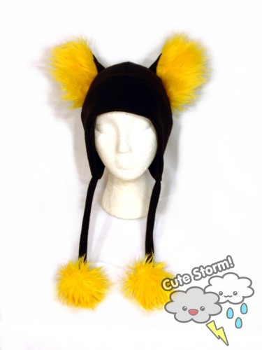 Furry Yellow Kitty Hat by The-Cute-Storm