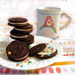 Sugary sweetness cookies and milk