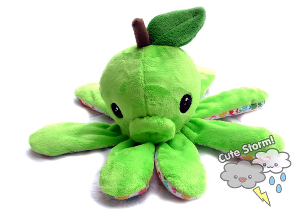 Apple Octopus plush by The-Cute-Storm