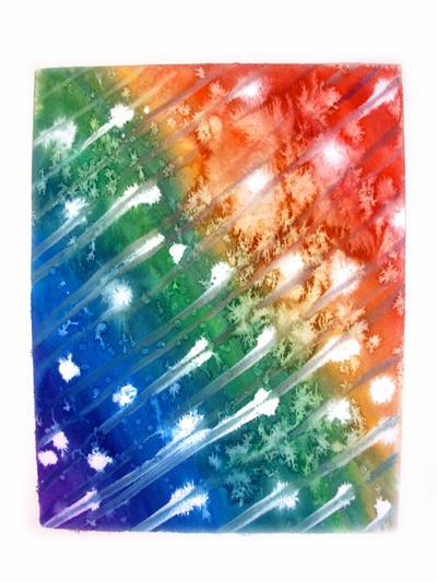 rainbow splash by The-Cute-Storm