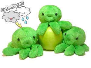 Little Apple Green Octoplushies